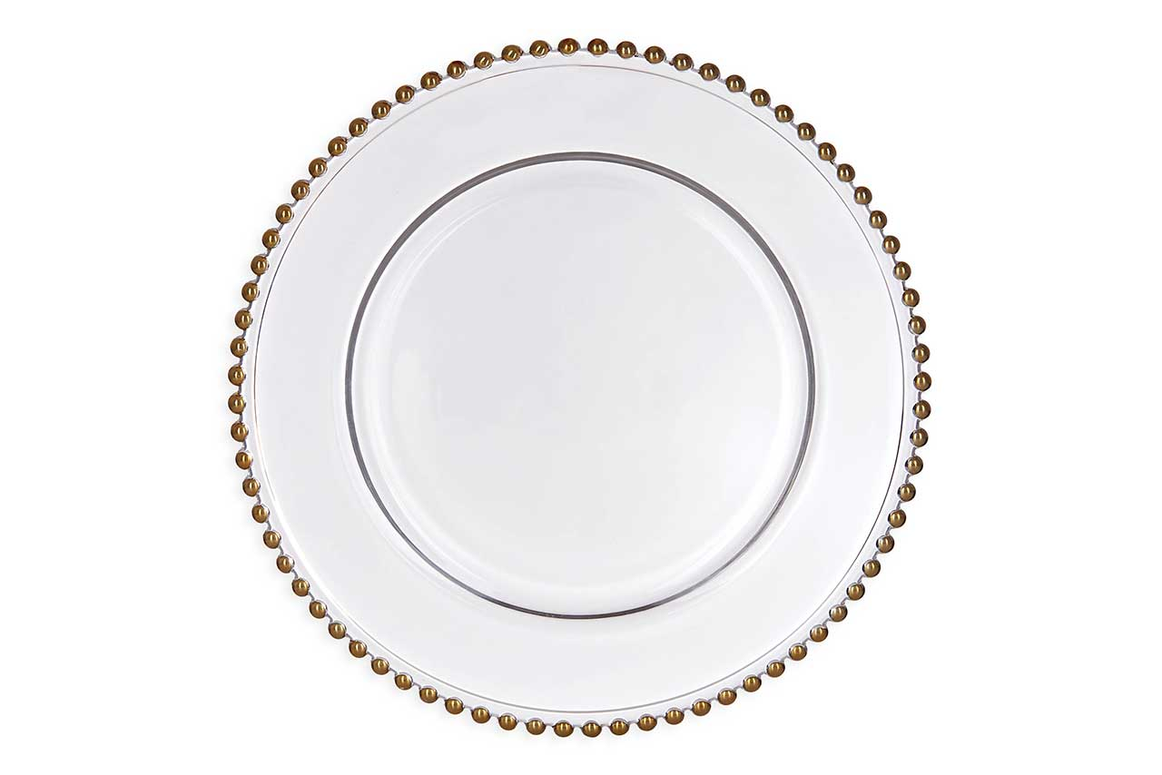 gold beaded charger plate buy  sc 1 st  Sharpnchic & Gold Beaded Charger Plates - Sharp N Chic Weddings