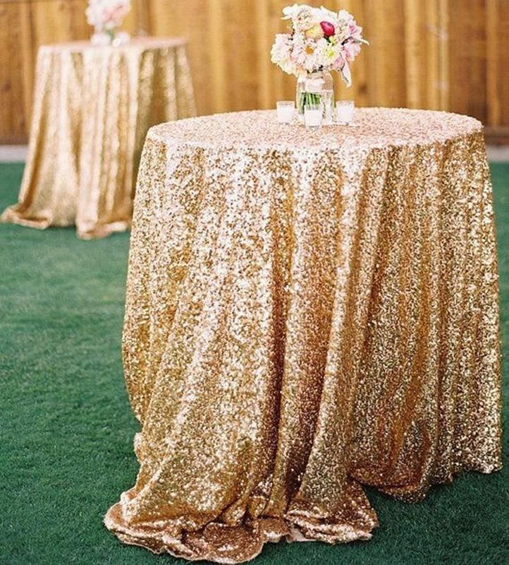 Gold Sequin Table Cloth For Cake