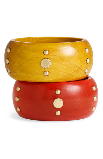 Marc jacobs wooden bangles