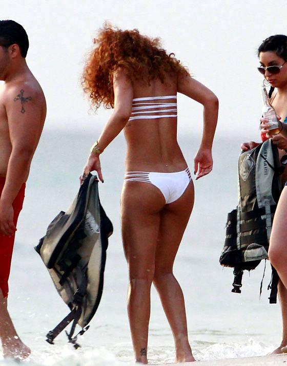rihanna bikini bottoms white string