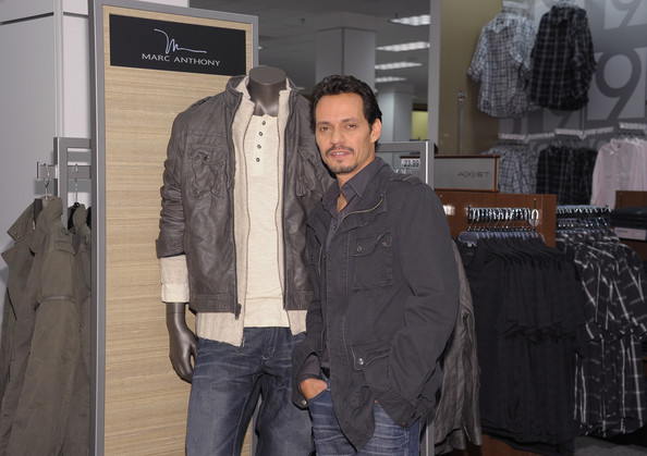 marc anthony at new store launch