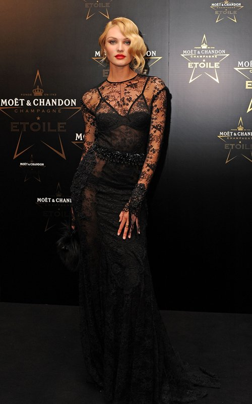 candice black lace dress tom ford
