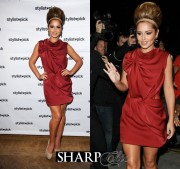 cheryl cole red dress beehive