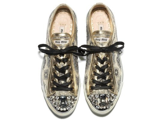 miu miu sparkle shoes brogue style