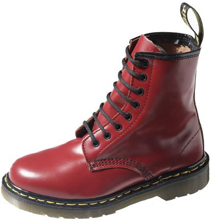 red burgundy dr martens