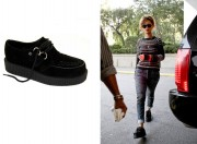 rihanna brothel creepers black wedge mens shoes