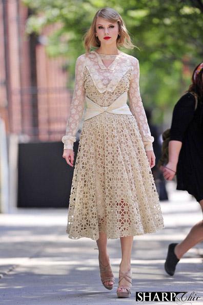 TAYLOR SWIFT NEW YORK rodart dress lace