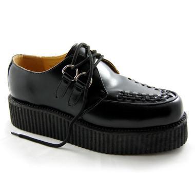 t.u.k rihanna shoes black wedge shoes