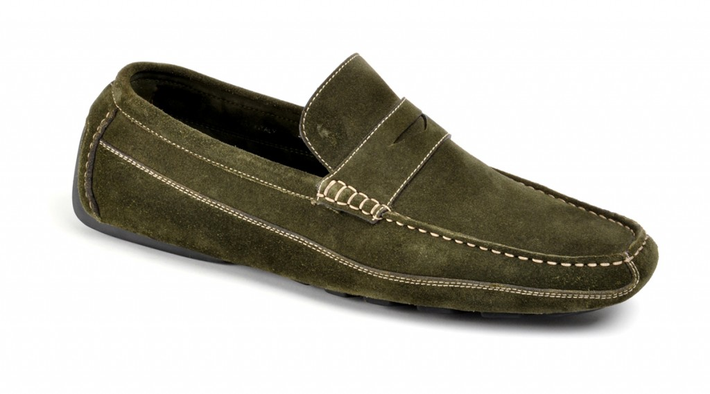PENNY DRIVER SUEDE LODEN