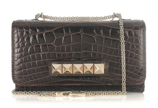 Valentino Va Va Voom Crocodile Shoulder Bag