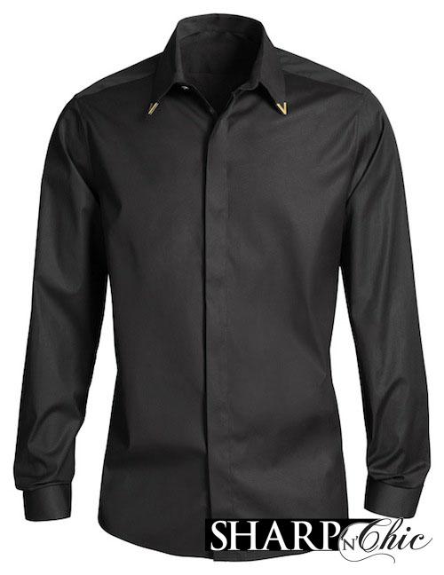 black tipped shirt