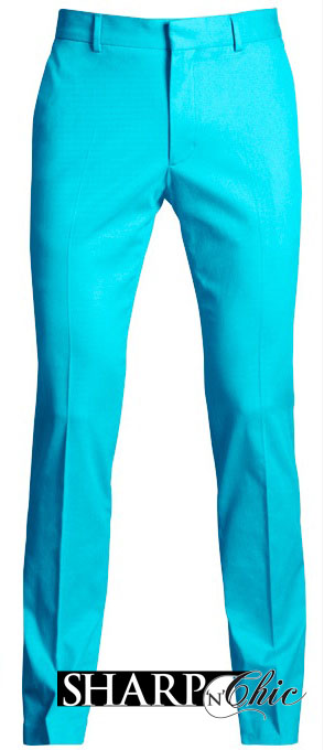 chris brown sky blue trousers