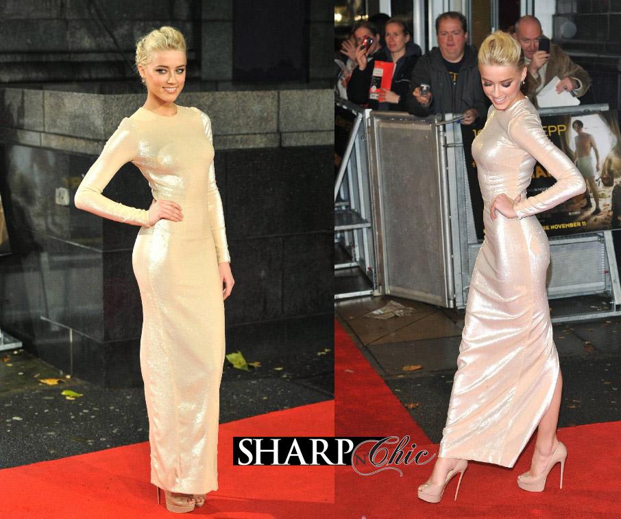 Amber Heard Red Dress