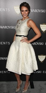 jessica alba white dress carolina
