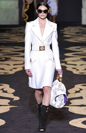 white versace coat jennifer hudson