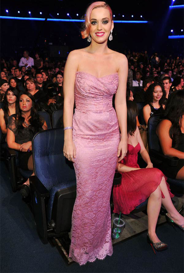 katy perry pink dress grammys