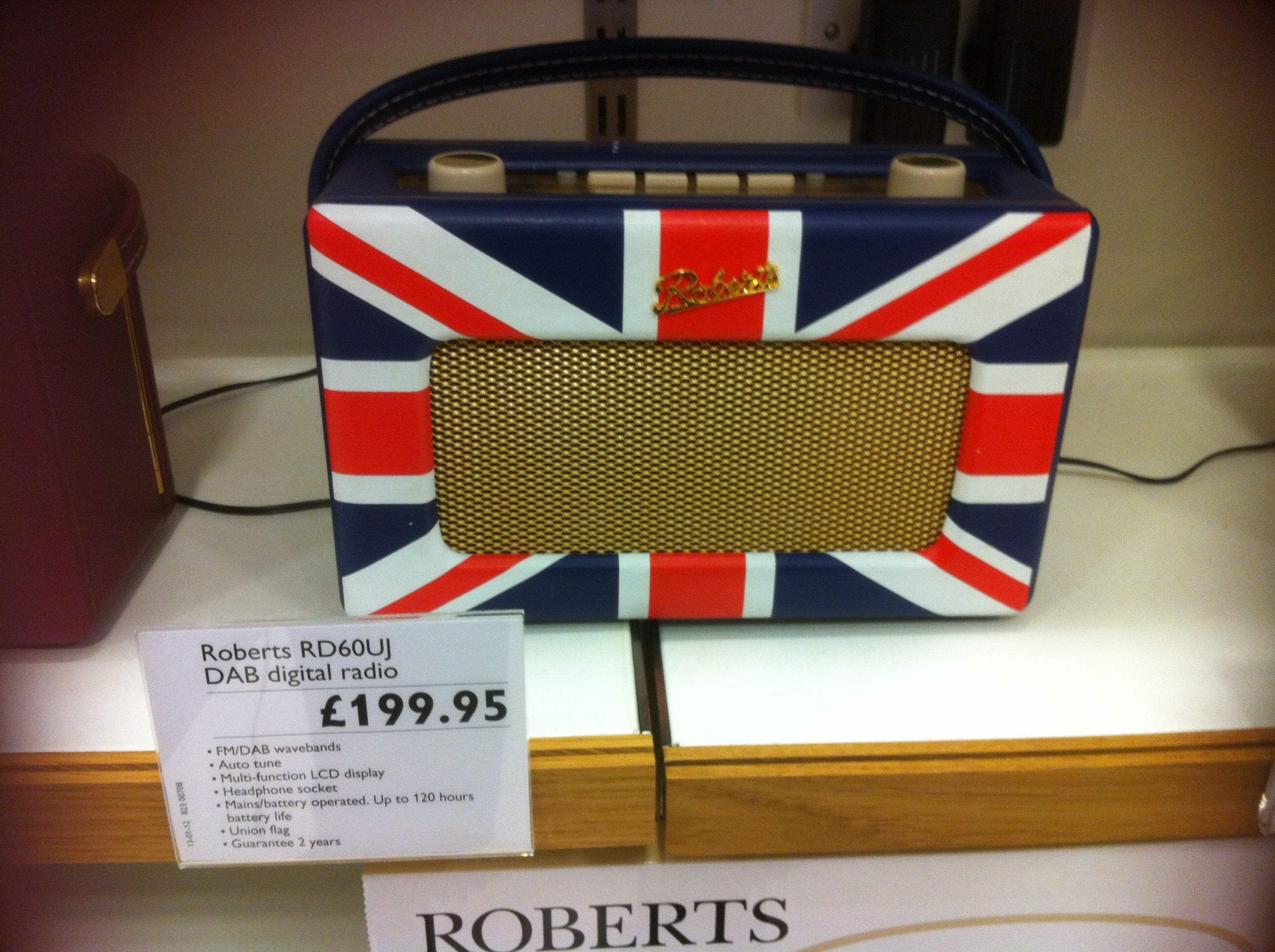 dab roberts union jack radio flag