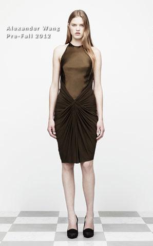 alexander wang rihanna green dress 2012 collection