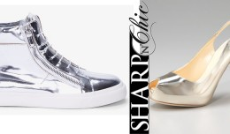 Giuseppe Zanotti Pumps vs sneakers silver mirror shoes