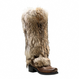 winter boots by coach fur