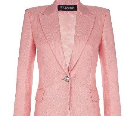 pink balmain jacket