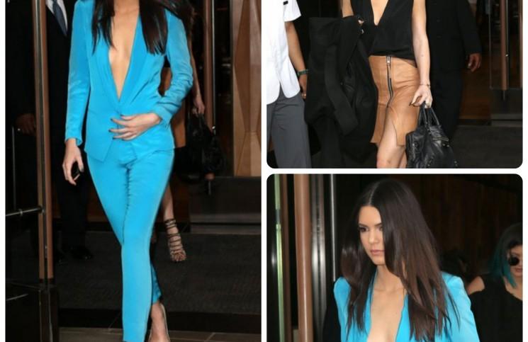 kendal jenner blue suit
