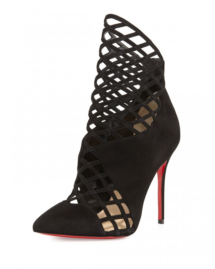 mrs Boulglione Cutout Red Sole Bootie