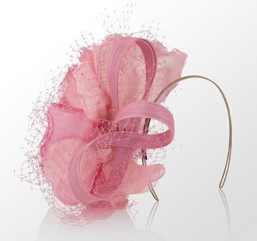 Philip Tracey Pink fascinator