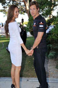Jenson Button and girlfriend