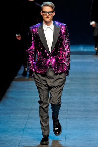 Dolce & Gabbana Fall 2011 purple jacket