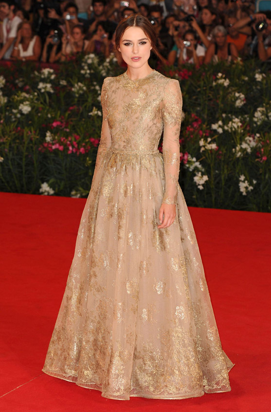 kiera knightley valentino dress venice 2011
