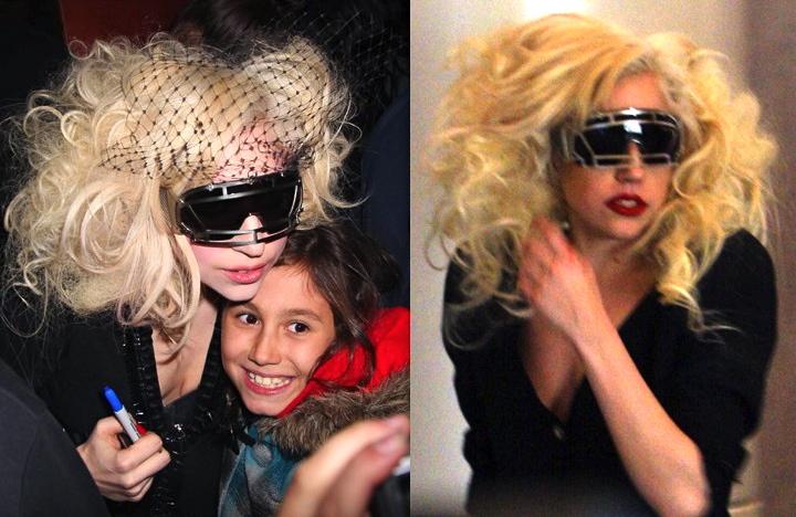 Lady Gaga wears amber rose glasses Linda farrow