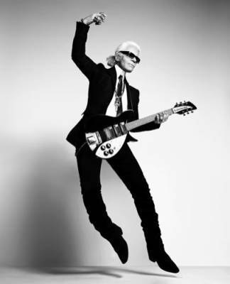 Karl Lagerfield's rock Chic