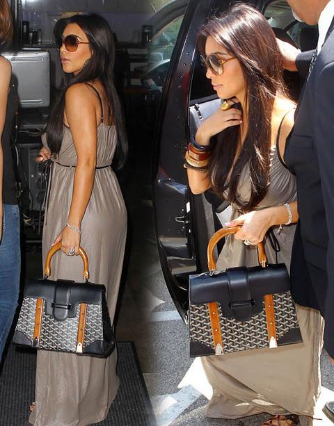 kim kardashian goyard handbag