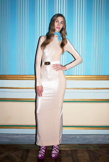 allessandra rich long dress 2012 spring