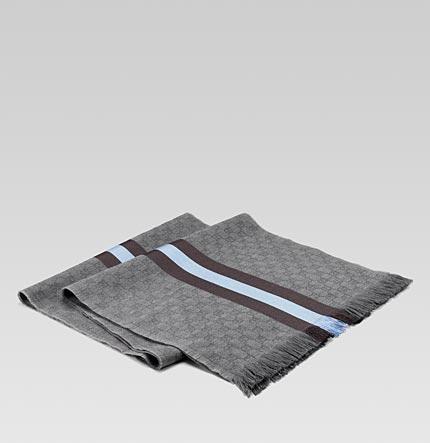 silver gucci scarf