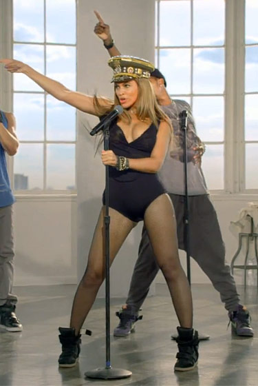 beyonce's trainers in love on top video