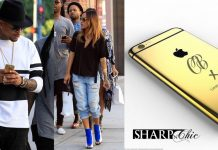 chris brown mobile phone gold custom