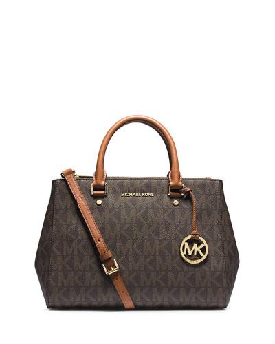 Sutton Medium Logo Satchel Bag