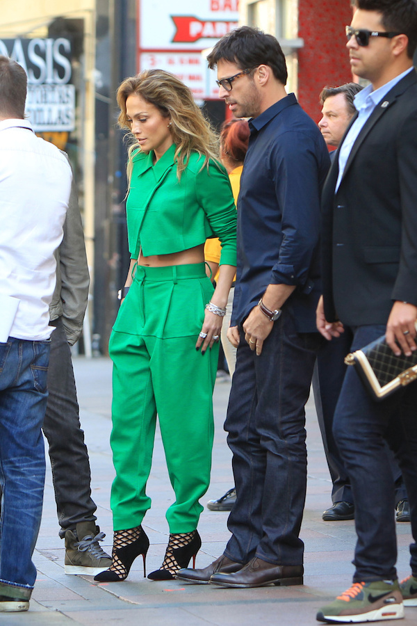 j lo green jumpsuit american idol