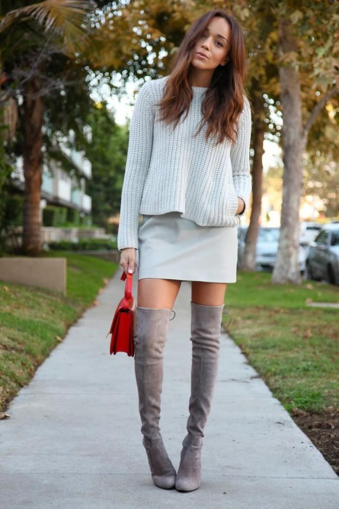 knee high and skirt